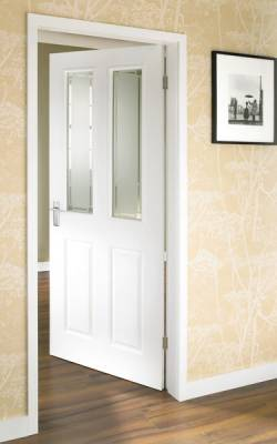 4 Panel Grained 2 Light Glazed door